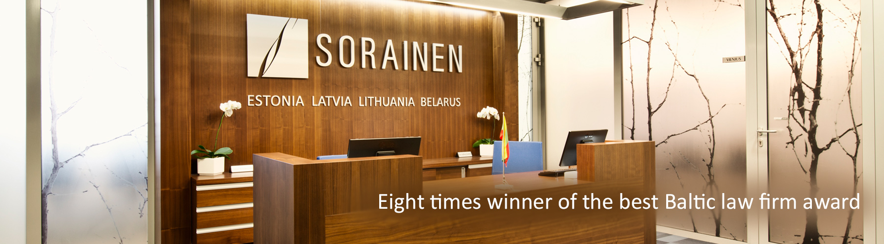 Eight times winner of the best Baltic law firm award
